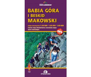 Babia Góra, Beskid Makowski - Mapa turystyczna