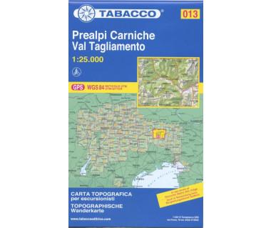 Prealpi Carniche,Val Tagliamento - Mapa turystyczna