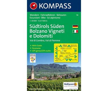 K 74 Sudtirols Suden/Bolzano Vigneti e Dolomiti