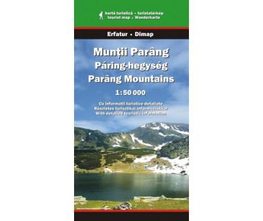 Muntii Parang - Mapa turystyczna