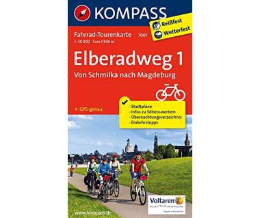 Elberadweg (1) Von Schmilka nach Magdeburg - Mapa rowerowa laminowana