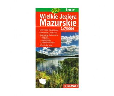 Wielkie Jeziora Mazurskie - Mapa