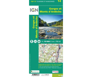 IGN 75014 Gorges et Monts d'Ardeche