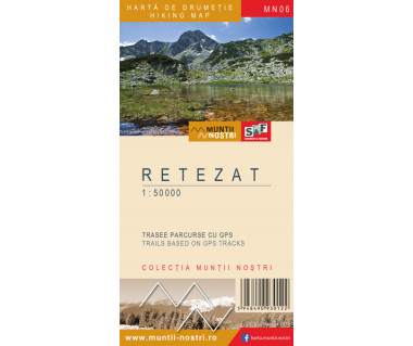 Retezat harta de drumetie/hiking map