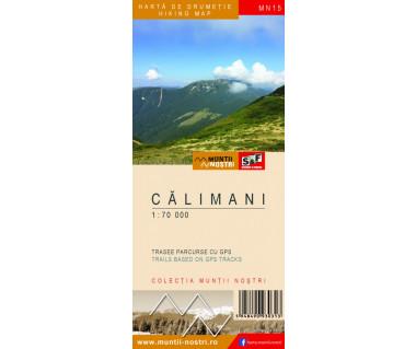 Calimani harta de drumetie/hiking map