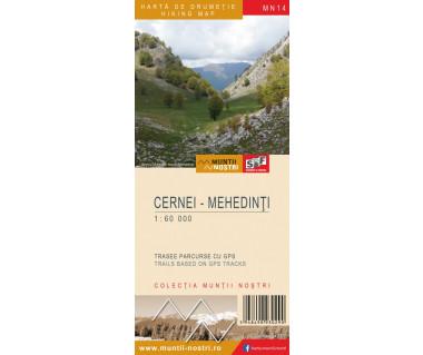 Cernei-Mehedinti harta de drumetie/hiking map