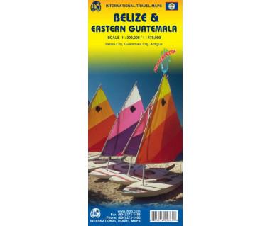 Belize & Eastern Guatemala - Mapa wodoodporna