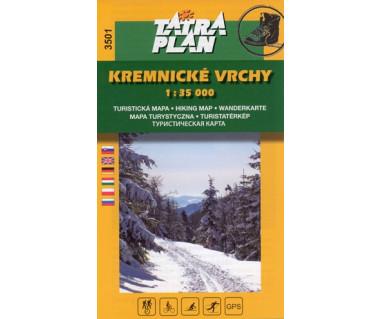 S3501 Kremnicke Vrchy - Mapa