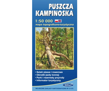 Puszcza Kampinoska - Mapa