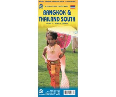 Bangkok & Thailand South - Mapa wodoodporna