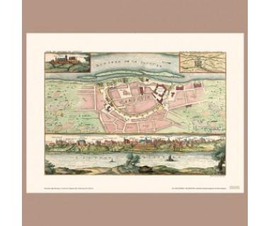 Warszawa panorama i plan reprint, N. de Fer 1705 r.