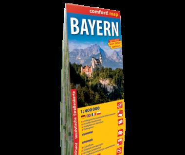 Bayern mapa laminowana