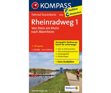 Rheinradweg (1) - Mapa rowerowa laminowana