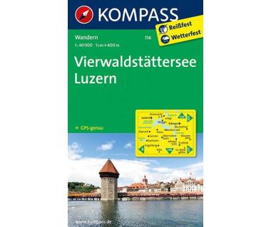 Vierwaldstattersee, Luzern - Mapa turystyczna laminowana