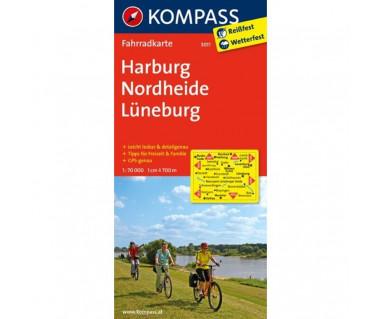 Harburg, Nordheide, Luneburg - Mapa laminowana