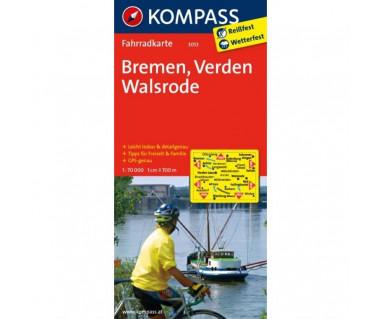 Bremen, Verden, Walsrode - Mapa laminowana