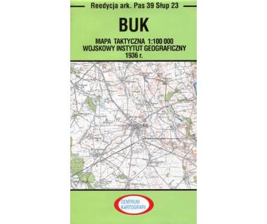 Buk mapa taktyczna ark. Pas 39 Słup 23 reedycja WIG 1936r