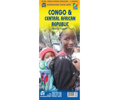 Congo & Central African Republic - Mapa