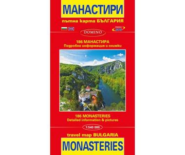 Bulgaria map of monasteries