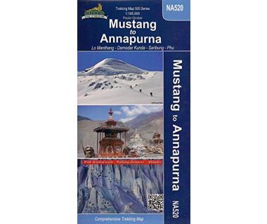 Mustang to Annapurna (NA520) - Mapa