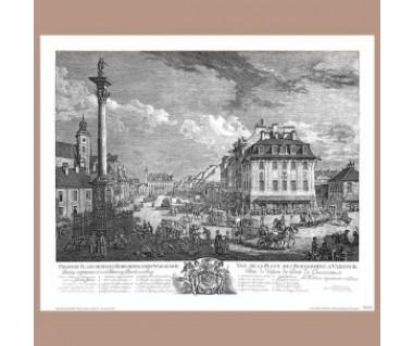 Widok na Krakowskie przedmieście, Canaletto 1771r.