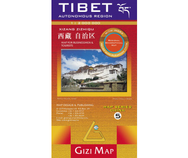 Tibet (geographical) - Mapa