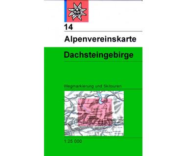 Dachsteingebirge - Mapa turystyczna