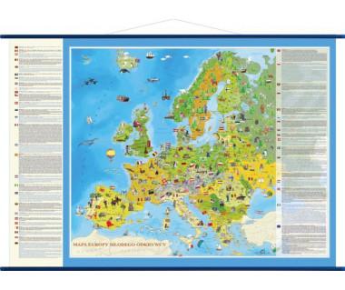 Europa mapa młodego odkrywcy 140cm x 100cm