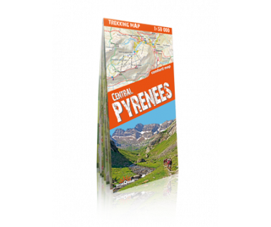 Central Pyrenees trekking map