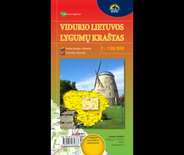 Vidurio Lietuvos (Litwa centralna) - Mapa