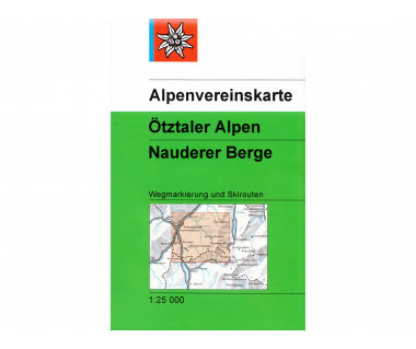 Otztaler Alpen Nauderer Berge - Mapa turystyczna