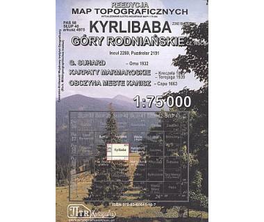 Kyrlibaba, Góry Rodniańskie - Mapa