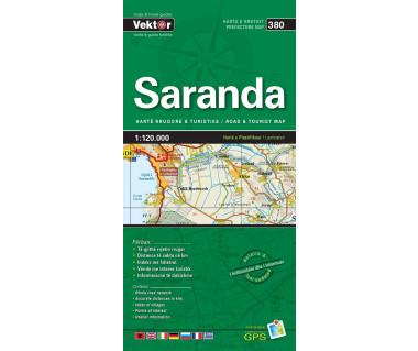Saranda (380) Albania - Mapa laminowana