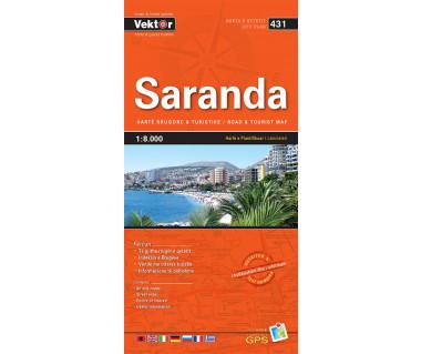 Saranda (431) Albania - Mapa laminowana