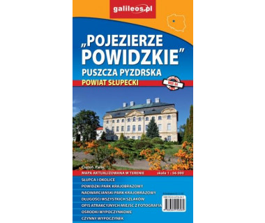 Pojezierze Powidzkie, Puszcza Pyzdrska, Powiat Słupecki - Mapa