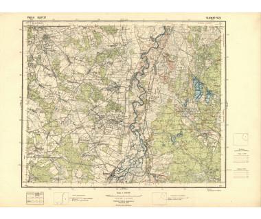 Sławatycze mapa takt. ark. Pas 41 Słup 37 reed. WIG 1933 r.