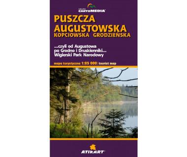 Puszcza Augustowska, Kopciowska, Grodzieńska - Mapa