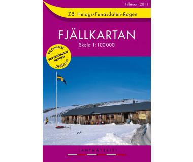 Helags - Funasdalen - Rogen - Mapa