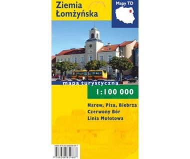 Ziemia Łomżyńska mapa laminowana