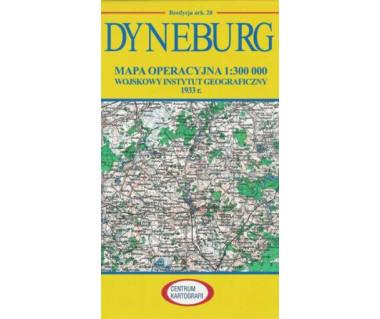 Dyneburg mapa operacyjna ark. 28 reedycja WIG 1933 r.