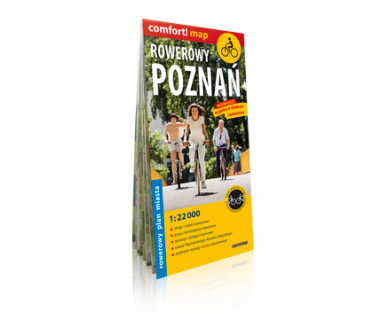 Rowerowy Poznań plan laminowany