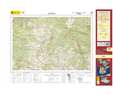Piz Bernina - Mapa turystyczna