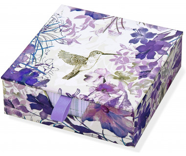 Karteczki zdobione Hummingbird