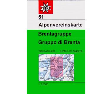 Brentagruppe/Gruppo di Brenta - Mapa turystyczna