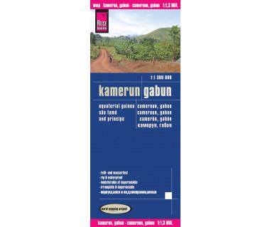 Kamerun, Gabon - Mapa wodoodporna