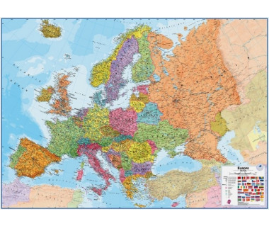 Europe Map 100x139cm (mapa polit. papier w tubie)