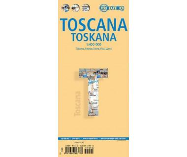 Toscana - Mapa laminowana