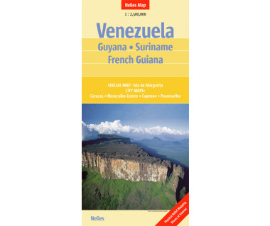 Venezuela, Guyana, Suriname, French Guiana - Mapa
