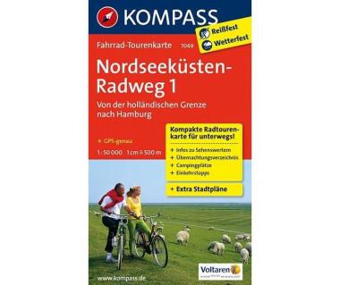 Nordseekusten-Radweg 1 - Mapa rowerowa laminowana