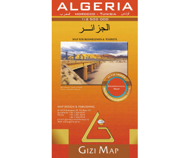 Algeria (geographical) - Mapa